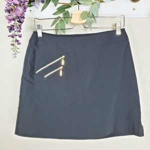 Jamie Sadock Outdoor Pull-On Golf Black Skort
